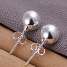 Terbaik Jual Perhiasan Fashion Stud Mode Berlapis Perak 8 Mm Bola Anting Stud-Intl