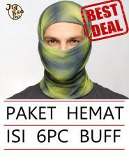 Best Seller!! Paket Isi 6pcs Buff Tnf Bandana Masker (original Jiabao Banyak Motif Bebas Pilih) By Toyo Deal Shop.