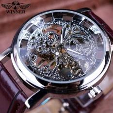 BEST SELLING BUSINESS Malaysia SKELETON Luxury Men's Mechancial Wrist Watch Golden Strap Black Dial