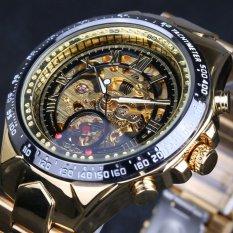 TERLARIS Noble Olahraga Pria Automatic Mechanical Watch Kerangka Logam Pemenang (Black Emas)-Intl