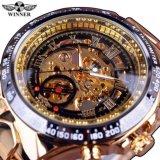 Harga Terlaris Noble Olahraga Pria Automatic Mechanical Watch Kerangka Logam Pemenang Black Emas Intl Fullset Murah
