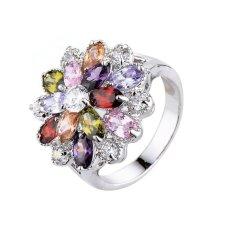 Terlaris Wanita Indah Diamond Ring Platina-Intl
