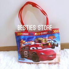Besties Tas Anak Cars Tas Tenteng / Bahu Tas Multifungsi Les / Berenang / Traveling  uk 35x23cm - M