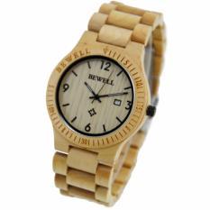 Cuci Gudang Bewell Zs W086B Fashion Vintage Pria Cendana Quartz Watch