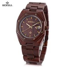 Beli Bewell Zs W099A Pria Quartz Watch Wooden Case Tanggal Tampilan Jepang Movt Arloji Intl Bewell Online