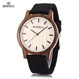 Beli Bewell Zs W134A Unisex Quartz Watch Wooden Case Kanvas Band Jepang Movt Arloji Kredit