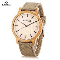Jual Bewell Zs W134A Unisex Quartz Watch Wooden Case Canvas Band Japan Movt Wristwatch Intl Lengkap