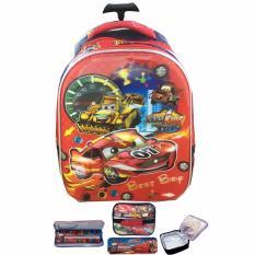 Rp 179.000. BGC 5 Dimensi Cars McQueen Best Race Tas Troley Anak TK IMPORT + Lunch Bag ALuminium Tahan Panas + Kotak ...