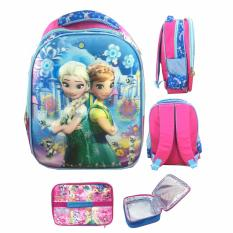 Promo Bgc 5 Dimensi Frozen Fever Blue Ice Tas Ransel Anak Tk Import Lunch Bag Aluminium Tahan Panas Full Motif Frozen Banten