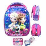 Toko Bgc 5 Dimensi Frozen Fever Elsa Anna Flower Import Tas Ransel Anak Sekolah Tk Lunch Bag Aluminium Tahan Panas Purple Elsa Lengkap