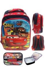 Promo Bgc 5 Dimensi Gambar Rubah Rubah Cars And Tehcnician 2 Kantung Timbul Import Tas Ransel Anak Sekolah Sd Lunch Bag Aluminium Tahan Panas Motif Full Cars