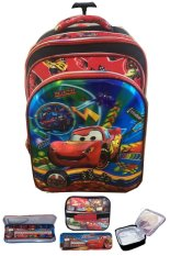 BGC 5 Dimensi Gambar Rubah Rubah Disney Cars Lightning McQueen Speeds 4 Kantung Timbul IMPORT Tas