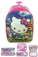 Beli Bgc 5 Dimensi Gambar Rubah Rubah Hello Kitty 2 Kantung Timbul Import Tas Troley Anak Sekolah Tk Lunch Bag Aluminium Tahan Panas Kotak Pensil Alat Tulis Full Kitty Pink Cicilan