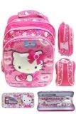 Toko Bgc 5 Dimensi Gambar Rubah Rubah Hello Kitty 3 Kantung Timbul Import Tas Ransel Anak Sekolah Sd Kotak Pensil Alat Tulis Motif Full Kitty Pinky Murah Banten