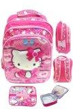 Promo Bgc 5 Dimensi Gambar Rubah Rubah Hello Kitty 3 Kantung Timbul Import Tas Ransel Anak Sekolah Sd Lunch Bag Aluminium Tahan Panas Motif Full Kitty Pinky Murah