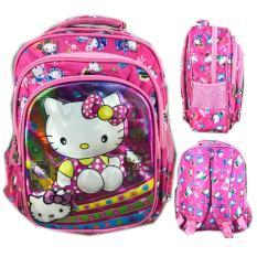 Iklan Bgc 5 Dimensi Gambar Rubah2 Hello Kitty Tas Ransel Anak Sekolah Tk 3 Kantung Import Pink Kitty