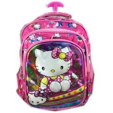 Jual Bgc 5 Dimensi Gambar Rubah2 Hello Kittytas Troley Anak Sekolah Tk 3 Kantung Import Pink Kitty