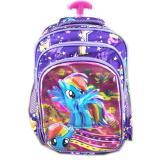 Jual Bgc 5 Dimensi Gambar Rubah2 My Little Pony Tas Troley Anak Sekolah Tk 3 Kantung Import Purple Pony Import