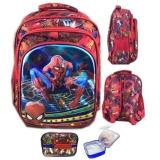 Diskon Bgc 5 Dimensi Gambar Rubah2 Spiderman Tas Ransel Anak Sekolah Tk 3 Kantung Import Lunch Bag Aluminium Tahan Panas Red Spider