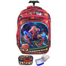 Jual Bgc 5 Dimensi Gambar Rubah2 Spiderman Tas Troley Anak Sekolah Tk 3 Kantung Import Lunch Bag Aluminium Tahan Panas Red Spider Grosir
