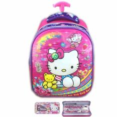 Harga Bgc 5 Dimensi Hello Kitty Import Tas Troley Anak Sekolah Tk Kotak Pensil Alat Tulis Purple Kitty Bgc Baru