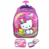 Jual Bgc 5 Dimensi Hello Kitty Import Tas Troley Anak Sekolah Tk Lunch Bag Aluminium Tahan Panas Purple Kitty