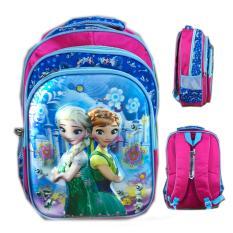 Beli Barang Bgc 5 Dimensi Tas Ransel Anak Sekolah Sd Frozen Fever 3 Kantung Import Blue Winter Online