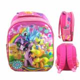 Jual Bgc 5 Dimensi My Little Pony Flower Tas Ransel Anak Tk Import Full Motif Pony Branded Murah
