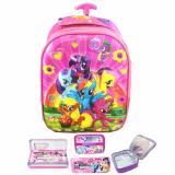 Ulasan Tentang Bgc 5 Dimensi My Little Pony Flower2 Tas Troley Anak Tk Import Lunch Bag Aluminium Tahan Panas Kotak Pensil Alat Tulis Full Motif Pony