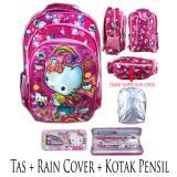 Ulasan Lengkap Tentang Bgc 5 Dimensi Rain Cover Hello Kitty Tas Ransel Anak Sekolah Sd 3 Kantung Import Kotak Pensil Alat Tulis Pink Kitty