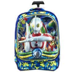 Jual Bgc 5 Dimensi Tas Troley Anak Sekolah Tk Ultraman 3Kantung Import Blue Satu Set
