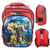 Model Bgc 5 Dimensi Transformer Bumblebee Vs Optimus Primeimport Tas Ranselanak Sekolah Sd Red Terbaru