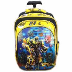 BGC 5 Dimensi Transformer Bumblebee Vs Optimus PrimeIMPORT Tas Troley Anak Sekolah SD - Yellow