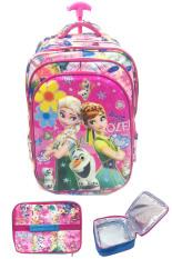 Jual Bgc 6 Dimensi Bantalan Punggung Disney Frozen Fever 4 Kantung Timbul Import Tas Troley Anak Sekolah Sd Lunch Bag Aluminium Tahan Panas Flower Banten