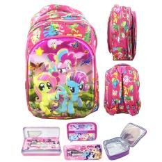 Harga Bgc 6 Dimensi Bantalan Punggung My Little Pony 4 Kantung Tas Ransel Anak Sd Import Lunch Bag Aluminium Tahan Panas Kotak Pensil Alat Tulis Full Motif Pony Terbaik