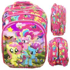 Beli Bgc 6 Dimensi Bantalan Punggung My Little Pony 4 Kantung Timbul Import Tas Ransel Anak Sekolah Sd Full Motif Pony Seken