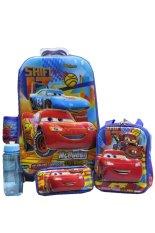 Harga Bgc 6 Dimensi Lapisan Anti Gores 4 In 1 Cars Koper Set Troley T 6 Roda Lunch Bag Kotak Pensil Botol Minum Hard Cover Import Termurah