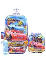 Promo Bgc 6 Dimensi Lapisan Anti Gores 4 In 1 Disney Cars Lightning Mcqueen Koper Set Troley T 6 Roda Lunch Bag Kotak Pensil Botol Minum Hard Cover Import Bgc