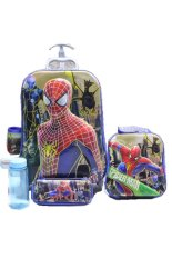 Beli Bgc 6 Dimensi Lapisan Anti Gores 4 In 1 Disney Spiderman Vs Electro Troley T 6 Roda Lunch Bag Kotak Pensil Botol Minum Hard Cover Import Terbaru