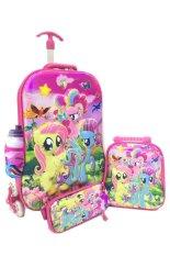 Bgc 6 Dimensi Lapisan Anti Gores 4 In 1 My Little Pony Koper Set Troley T 6 Roda Lunch Bag Kotak Pensil Botol Minum Hard Cover Import Di Banten
