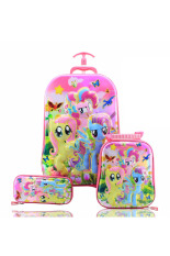 Ulasan Mengenai Bgc 6 Dimensi Lapisan Anti Gores Disney My Little Pony Best Friends Koper Set Troley T 6 Roda Lunch Bag Kotak Pensil Hard Cover Import