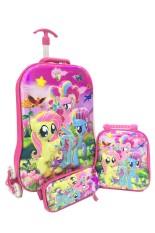 Obral Bgc 6 Dimensi Lapisan Anti Gores Disney My Pinkie Little Pony Best Friends Koper Set Troley T 6 Roda Lunch Bag Kotak Pensil Hard Cover Import Murah