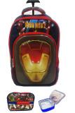 Toko Bgc 6 Dimensi Lapisan Anti Gores Marvel Avenger Iron Man Muka Timbul 3 Kantung Timbul Import Hard Cover Tas Troley Anak Sekolah Sd Lunch Bag Aluminium Tahan Panas Black Motif Di Indonesia