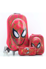Beli Bgc 6 Dimensi Lapisan Anti Gores Marvel Avenger Spiderman Muka Timbul Koper Set Troley T 6 Roda Lunch Bag Kotak Pensil Hard Cover Import Secara Angsuran
