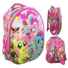 Jual Bgc 6 Dimensi Lapisan Anti Gores My Little Pony Setengah Telur 2 Kantung Tas Ransel Anak Tk Import Full Motif Pony Bgc