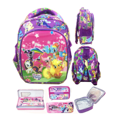 Jual Bgc 6 Dimensi Lapisan Anti Gores My Little Pony Tas Ransel Anak Tk Import Lunch Bag Aluminium Tahan Panas Full Motif Purple Pony Bgc Asli