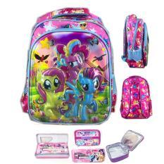 Toko Bgc 6 Dimensi My Little Pony Tas Ransel Anak Sekolah Sd Import Lunch Bag Aluminium Tahan Panas Kotak Pensil Alat Tulis Full Motif Pony Lengkap