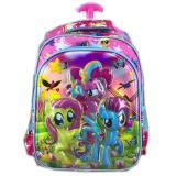 Bgc 6 Dimensi My Little Pony Tas Troley Anak Sekolah Sd Import Full Motif Pony Promo Beli 1 Gratis 1