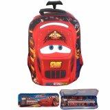 Toko Bgc Cars Lightning Mcqueen 3D Timbul Hard Cover Tas Troley Sekolah Anak Sd Kotak Pensil Alat Tulis Terlengkap