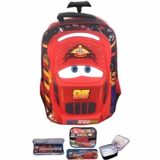Harga Bgc Cars Lightning Mcqueen 3D Timbul Hard Cover Tas Troley Sekolah Anak Sd Lunch Bag Aluminium Tahan Panas Kotak Pensil Alat Tulis Banten